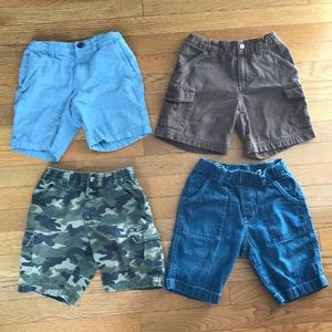 Four pairs of boy shorts